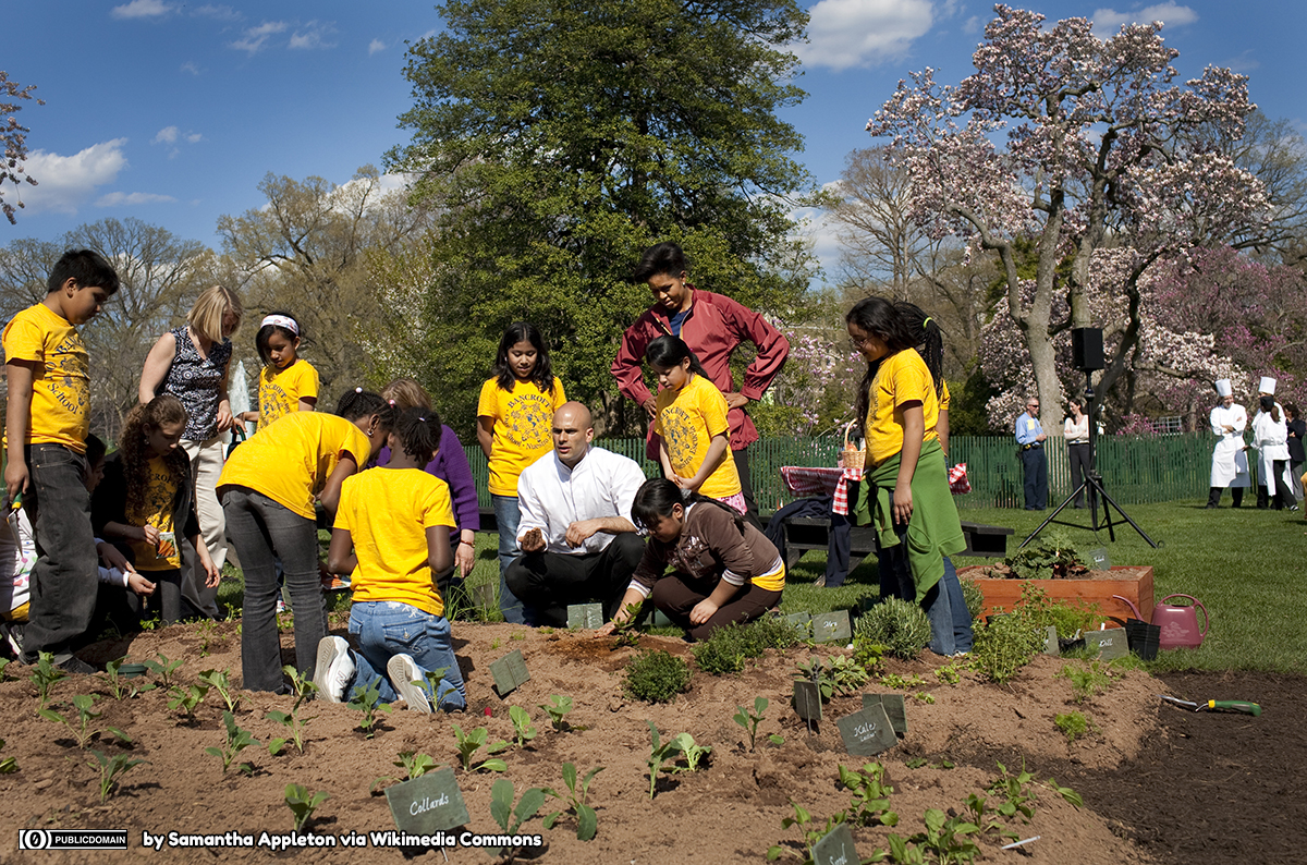 Michelle_Obama_&_Sam_Kass_show_Bancroft_students_how_to_plant_a_garden_4-9-09 1200 lic